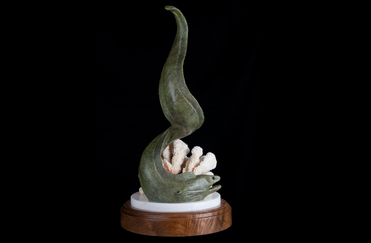 Moray Eel Bronze Sculpture
