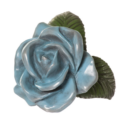 Baby Blue Rose Botany Rose Sculpture