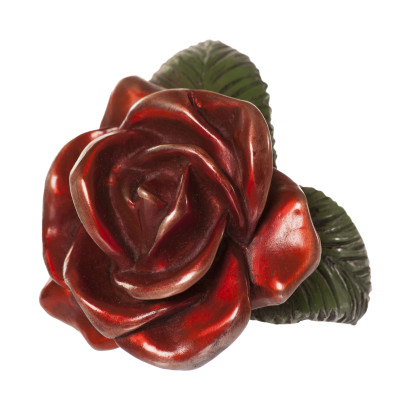 Single Red Rose Sculpture