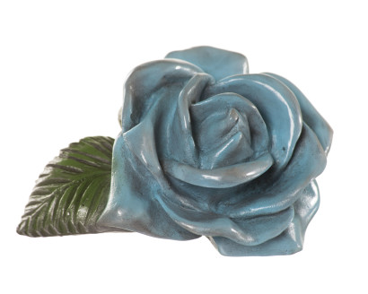 Baby Blue Rose Sculpture