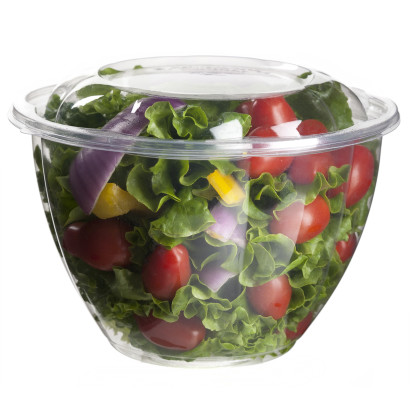 Salad Bowl Container Products on White Background